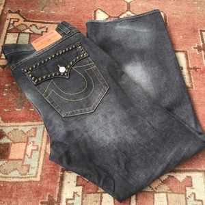 Mens True Religion Billy Jeans w/ Pocket Studs 42